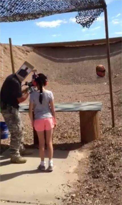 9-year-old girl shoots instructor