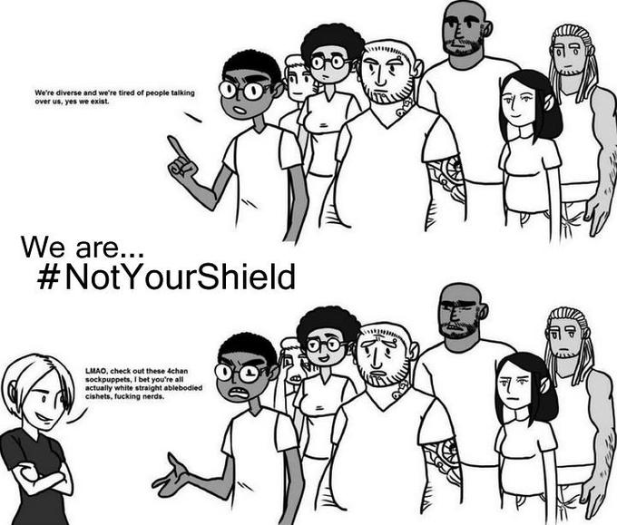 We are... #NotYourShield