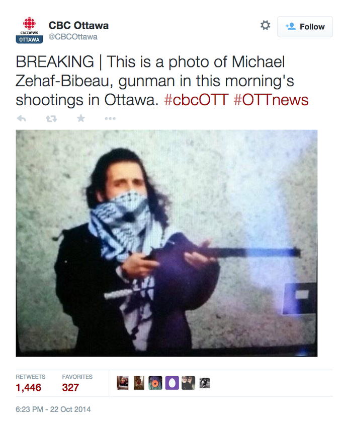 School Shootings 2014: 2014 Canadian Parliament Shooting