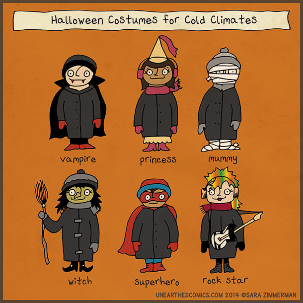 """""""Halloween Costumes for Cold Climates"""" by Unearthed Comics ..."""