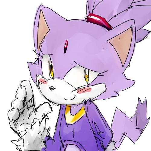 blushing blaze sonic the hedgehog know your meme