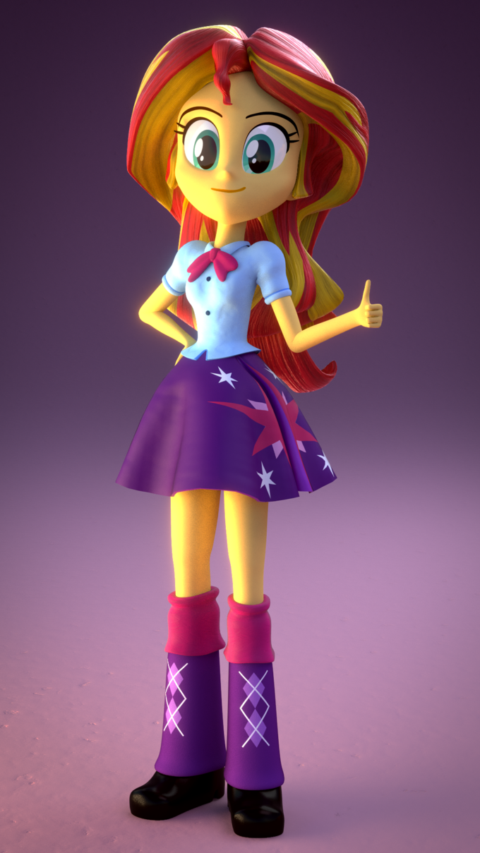 cgi sunset shimmer in twilights clothes my little pony