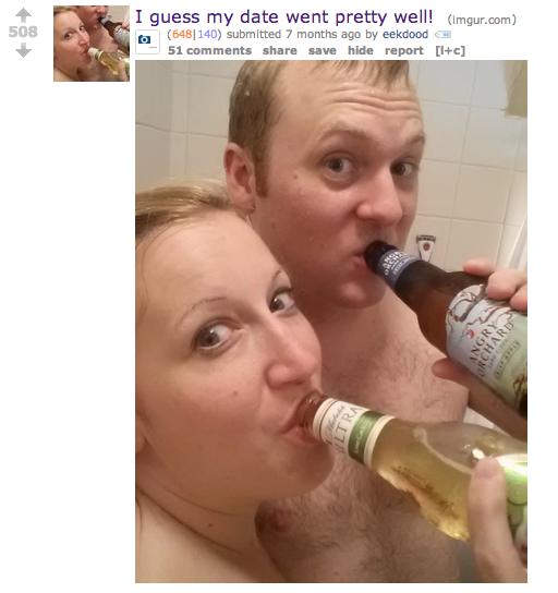 Fucking while drinking beer
