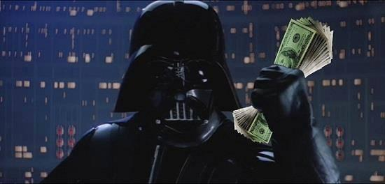 Image result for darth vader take my money