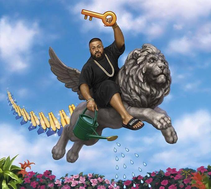 DJ Khaled giving out keys in Iwa 05d