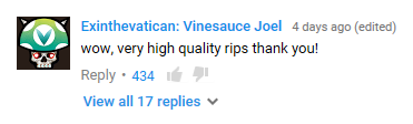 Joel YouTube comment