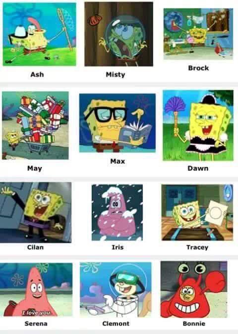 Pokemon Characters Spongebob Comparison Charts Know