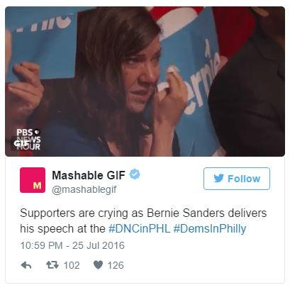 208 crying bernie sanders supporters know your meme,Hillary Supporters Crying Meme