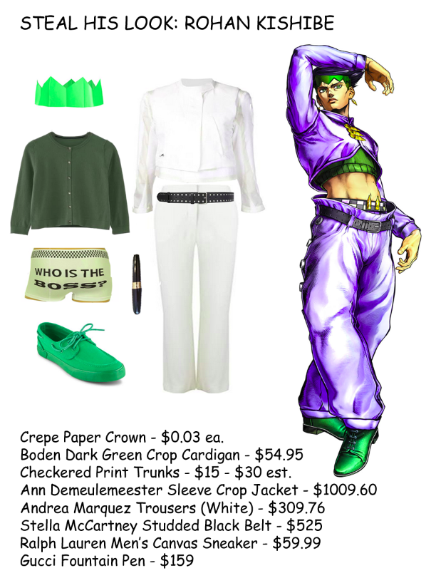 Steal Rohan Kishibe's Look   Steal Her Look   Know Your Meme