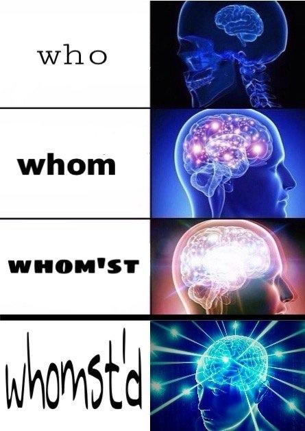 Original Expanding Brain Meme about Whomst