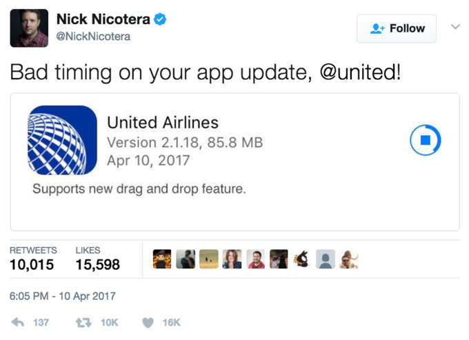 Bad timing on your app update