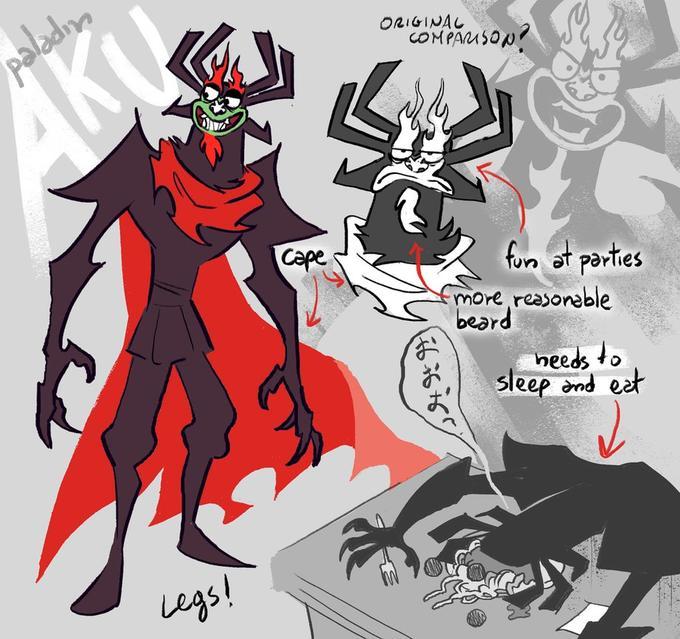Samurai Jack AU- Paladin Aku - human form | Samurai Jack | Know ...