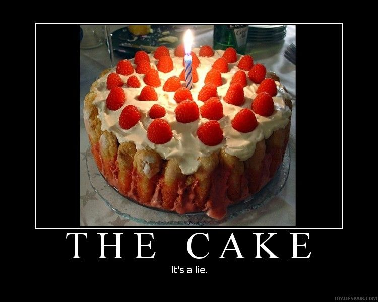 Know Your Meme The Cake Is A Lie