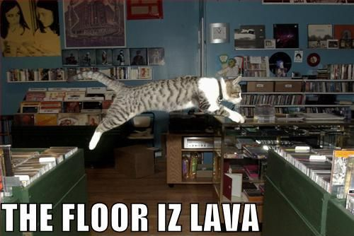 Image 81119 the floor is lava hot lava game know for Floor is lava meme