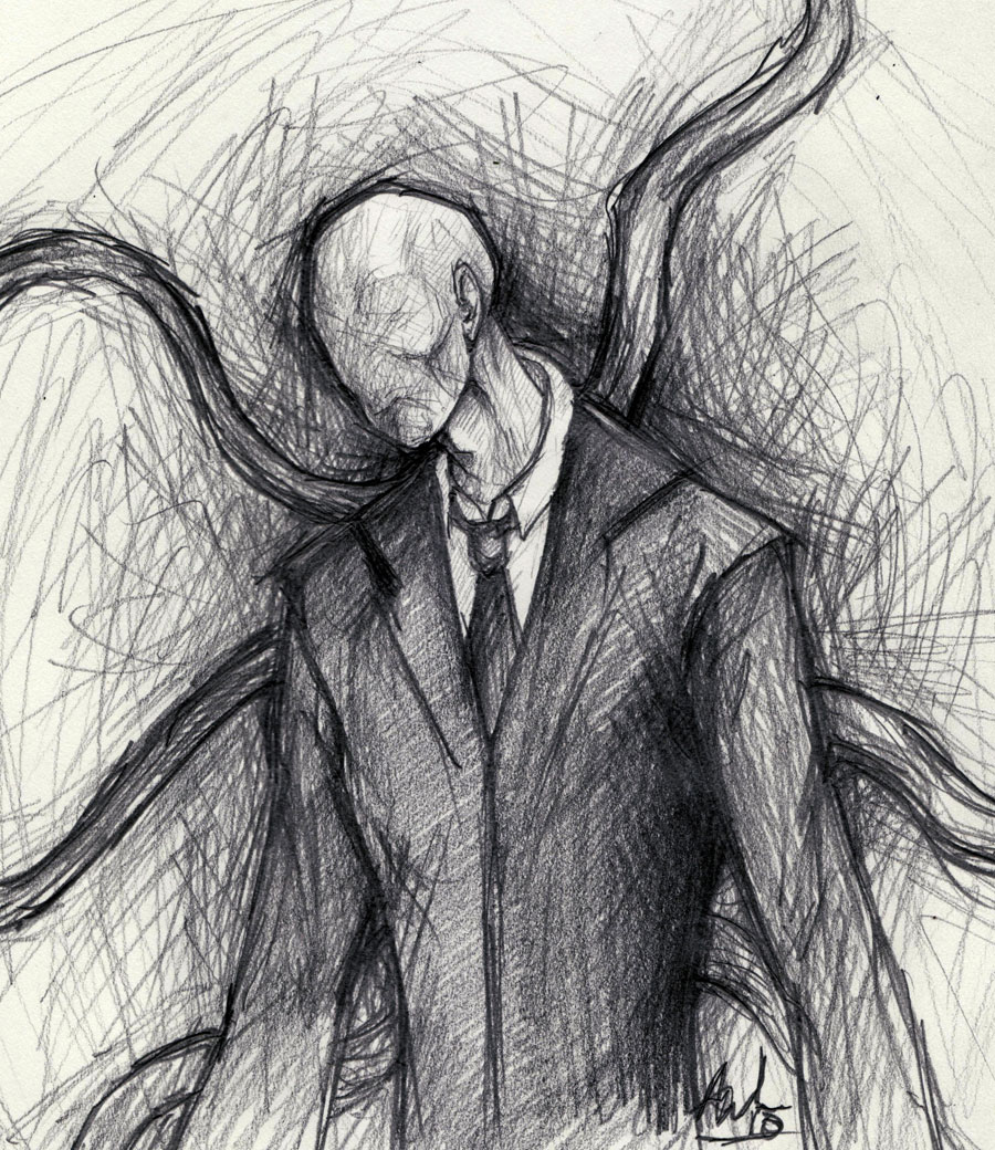 Slender Man Easy Drawing Easy Slender Man Drawing