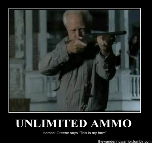 Hershel (The Walking dead) Municion infinita