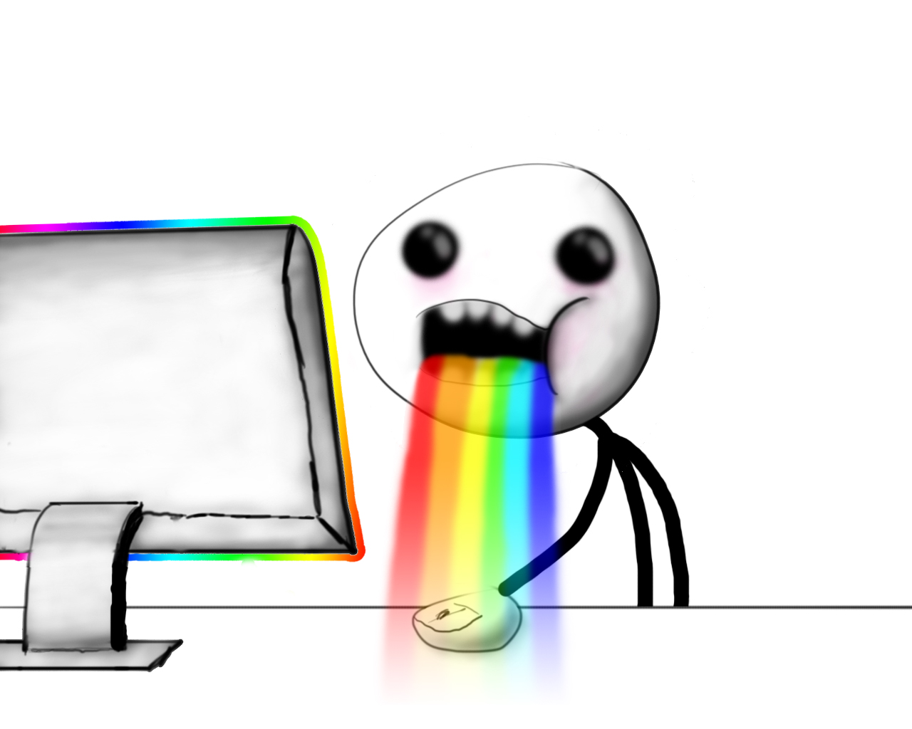 realistic puking rainbows puking rainbows know your meme