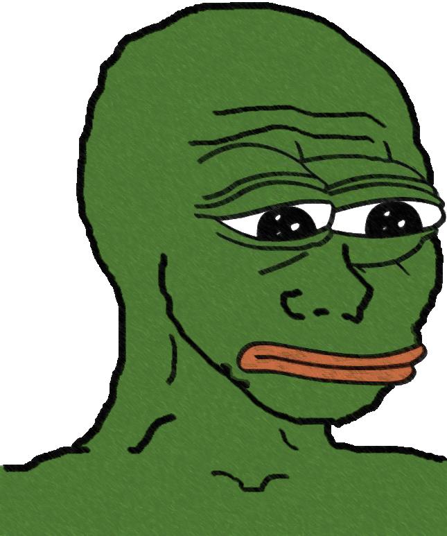 Green sad face