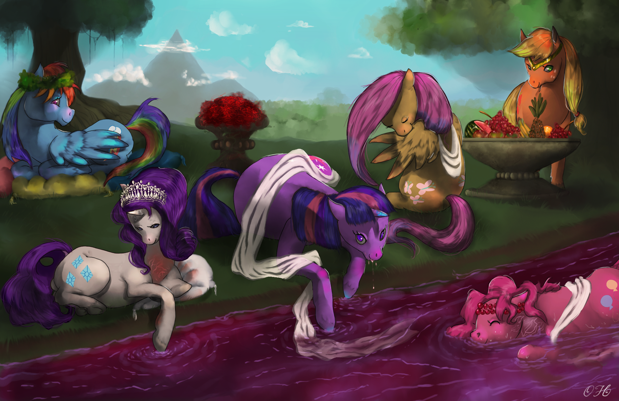In The Gardens There Is A River Of Wine My Little Pony