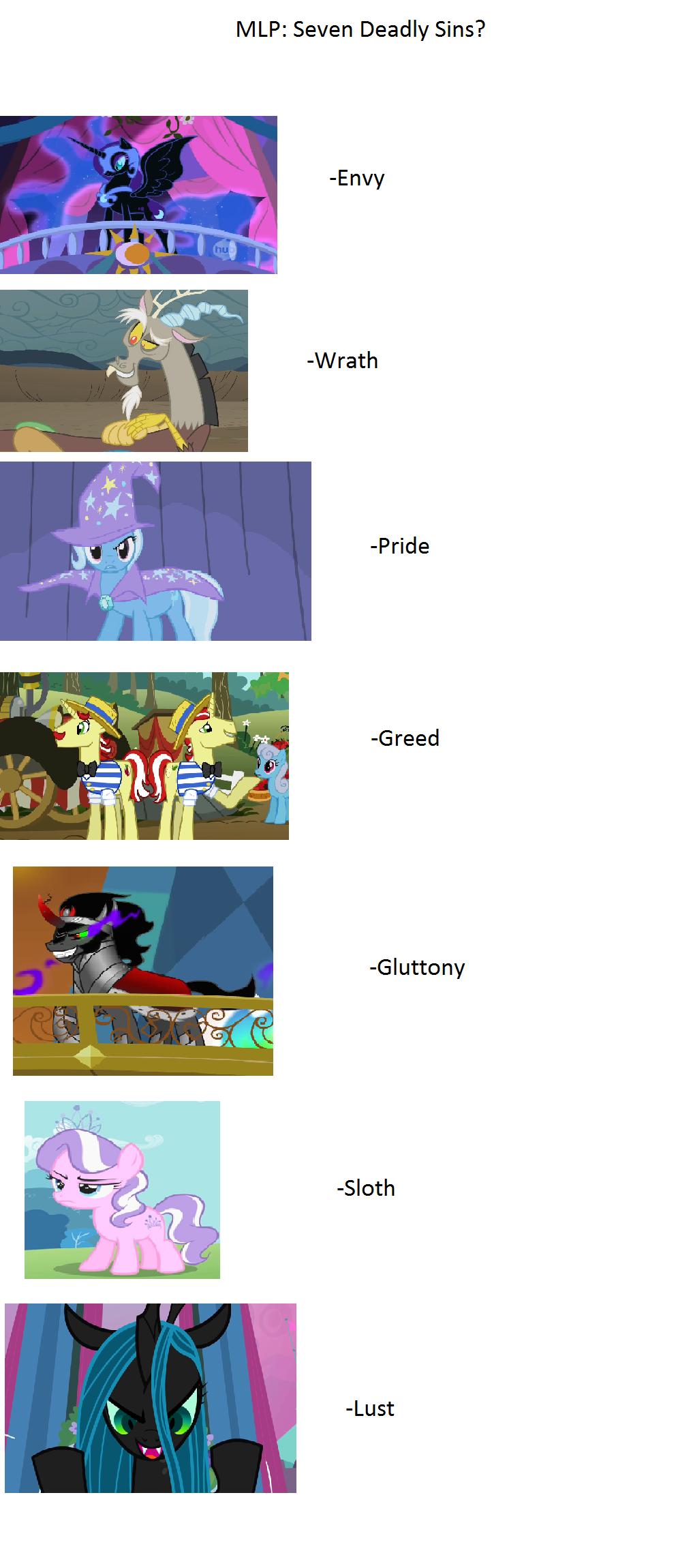 Friendship is magic: Seven Deadly Sins | My Little Pony ...