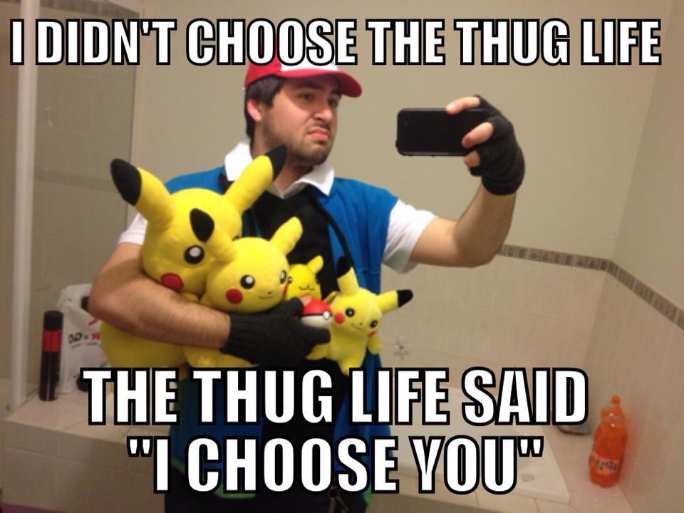 Funny Meme Thug Life : Image i didn t choose the thug life
