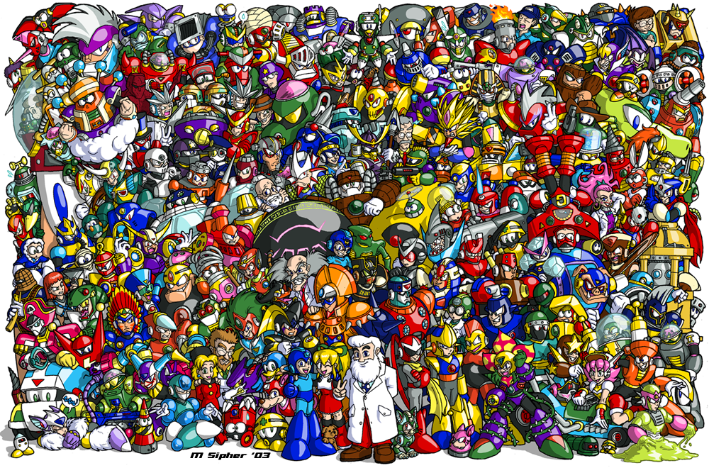 Classic Mega Man 1987 To 2003 By Msipher Mega Man
