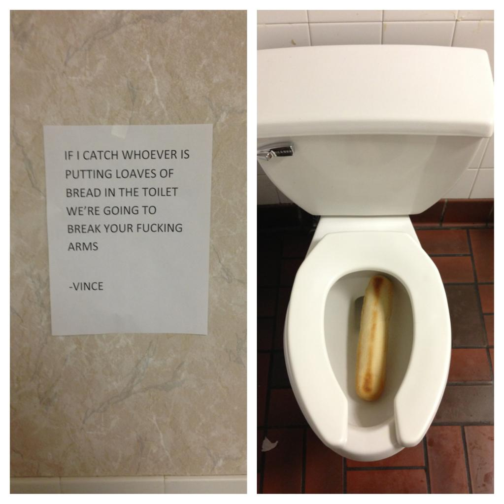 Loaf Of Bread In Toilet Trolling Know Your Meme