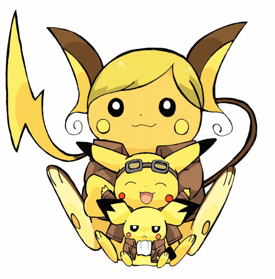 Raichu, Pikachu, and Pichu (Attack on Titan ...Pichu Pikachu Raichu