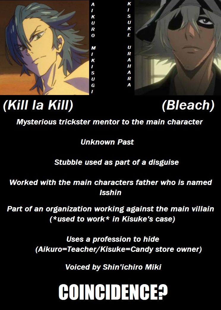 the similarities between aikuro mikisugi and kisuke urahara