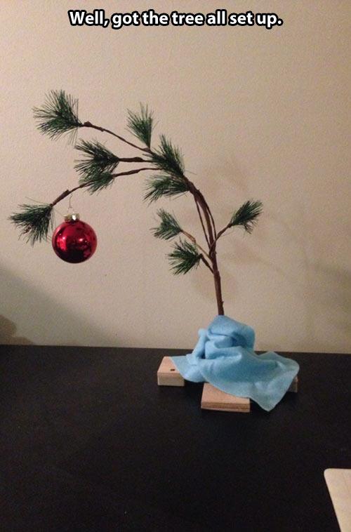 Charlie Brown Christmas Tree Childhood Enhanced Know