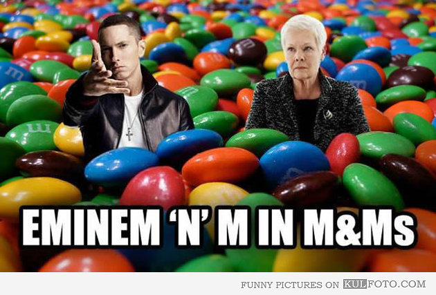 Eminem And M in M&m's | Name Puns | Know Your Meme