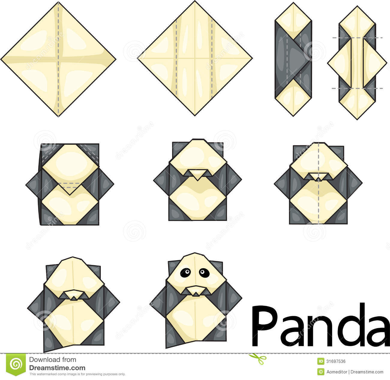 panda origami pandas know your meme