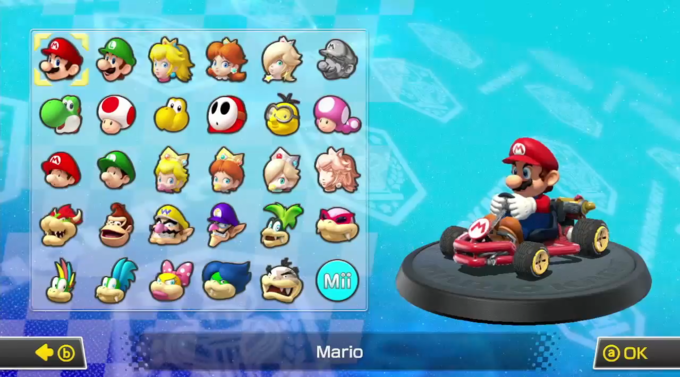 mario kart 8 character select screen mario kart know your meme. Black Bedroom Furniture Sets. Home Design Ideas