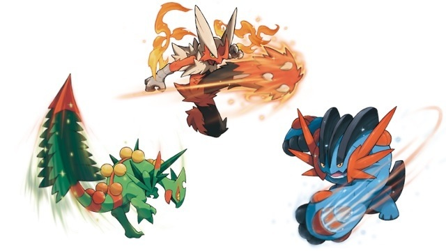 Hoenn starters Mega Evolution artwork | Pokemon | Know ...