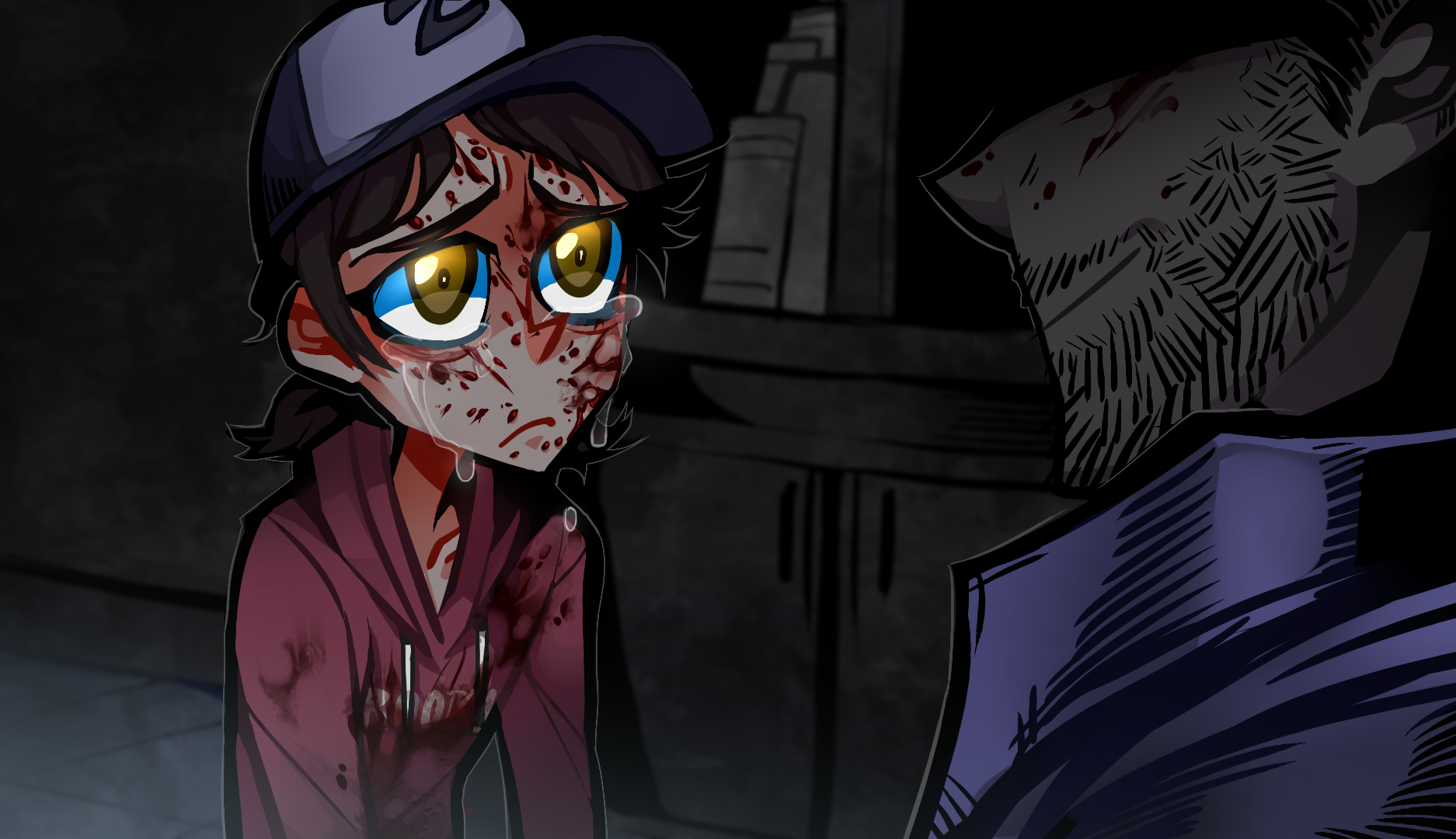 Clementine And Lee Sad
