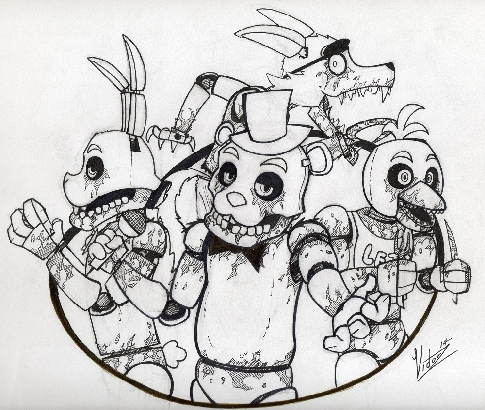 Beautiful Fnaf Toy Chica Coloring Pages Unique Fnaf - Five Nights ...   847x1000