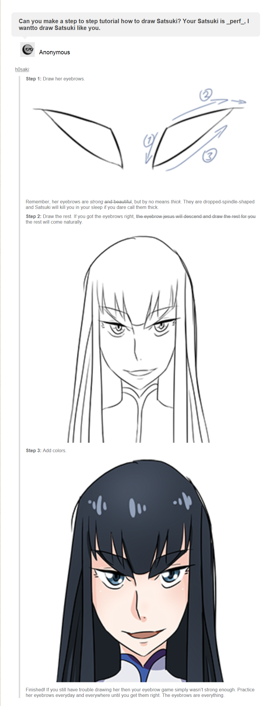 Is your eyebrow game strong enough for Lady Satsuki ...