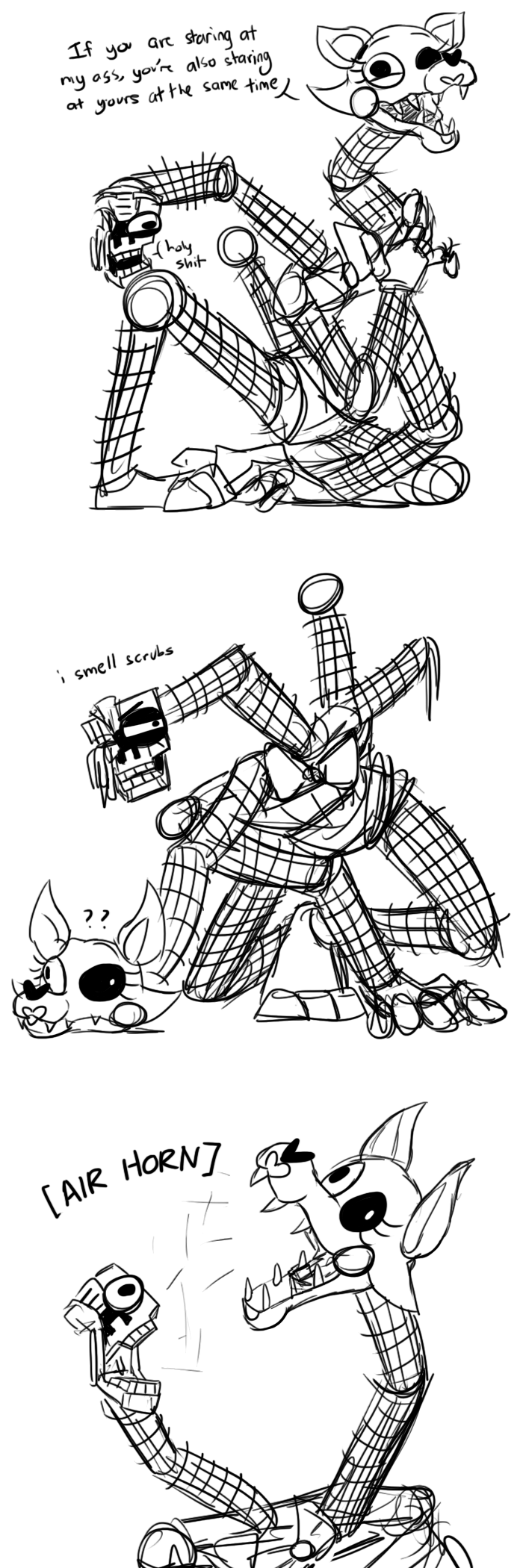 Mangle Likes Goofing Five Nights At Freddys Know Your Meme
