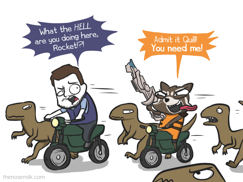 Star Lord And Rocket Raccoon By Timothygreenii On Deviantart: Rocket Raccoon With Raptor-Lord