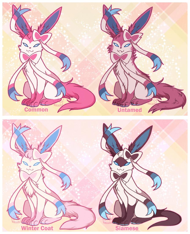 sylveon variations pokemon variants know your meme