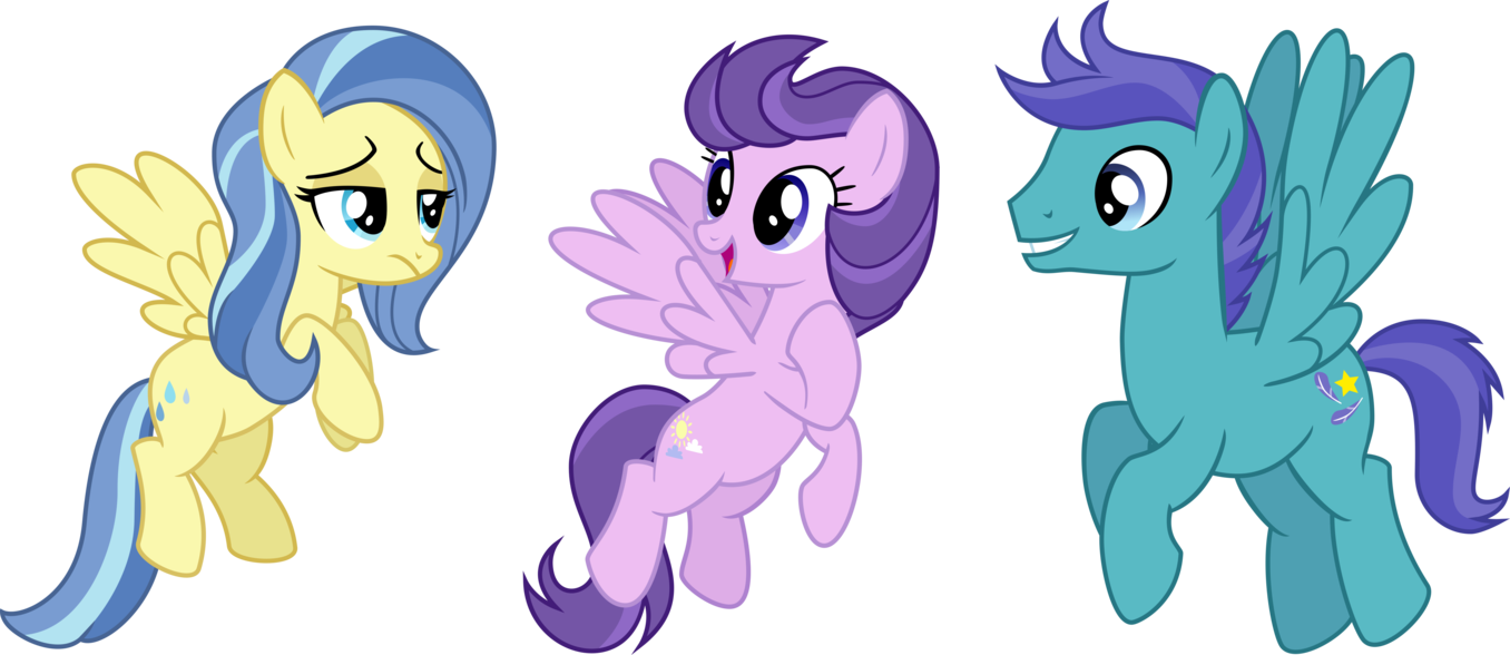 The pegasus trio from Tanks for the Memories  My Little Pony Friendship is  # Sunshower Love_194845