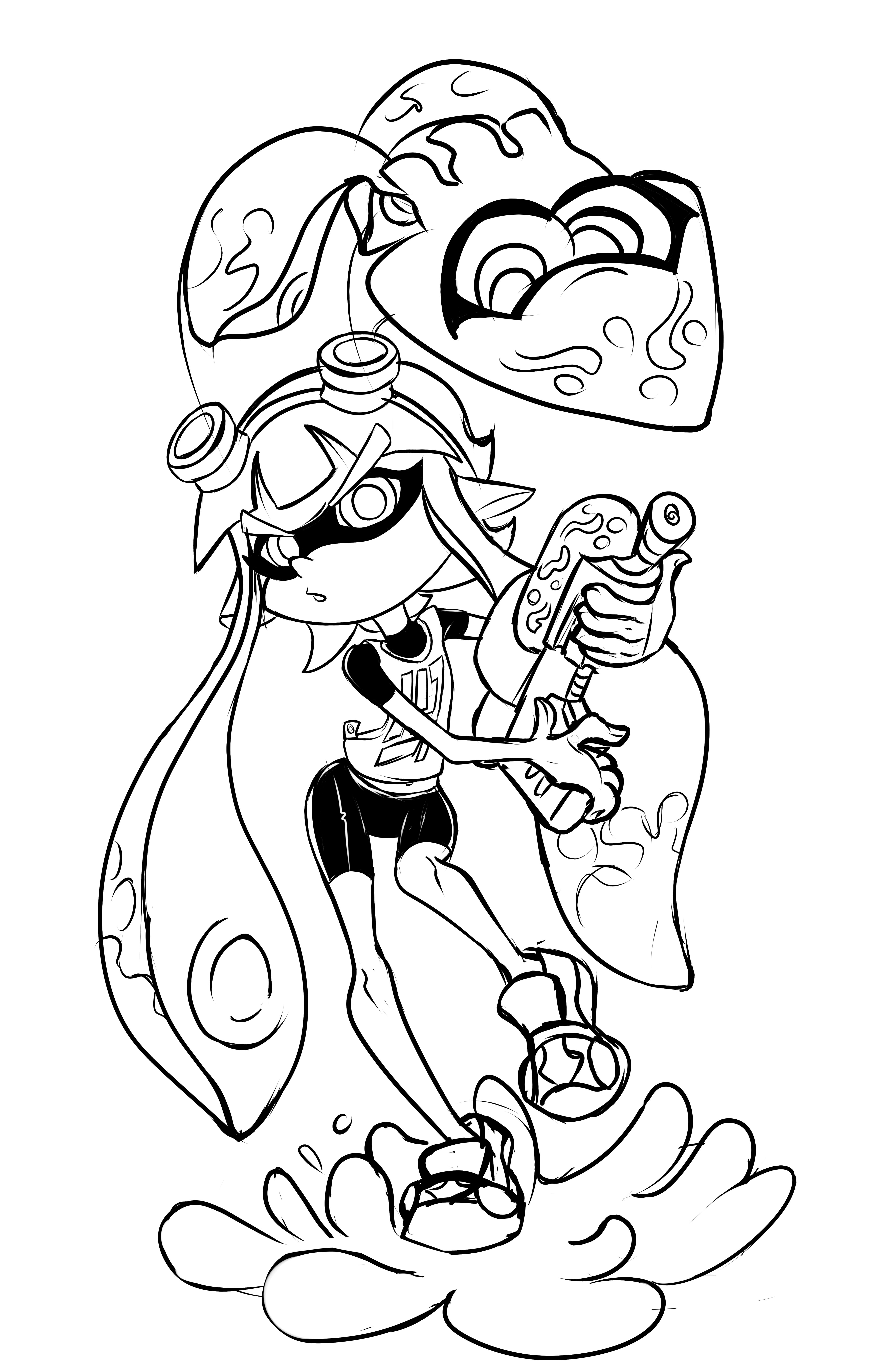 Inkling Girl Splatoon Know Your Meme
