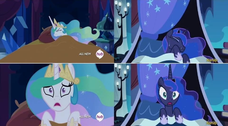 princesses clearly do wear their accessories to bed my little pony