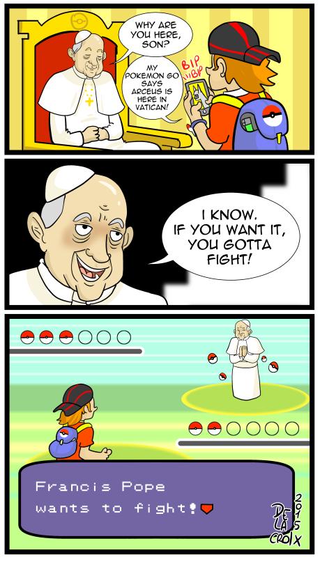 Pope Francis Battle | Pokémon GO | Know Your Meme