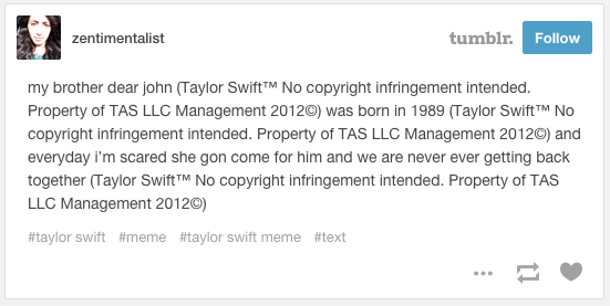 Zentimentalist's post | Taylor Swift™ No Copyright ...