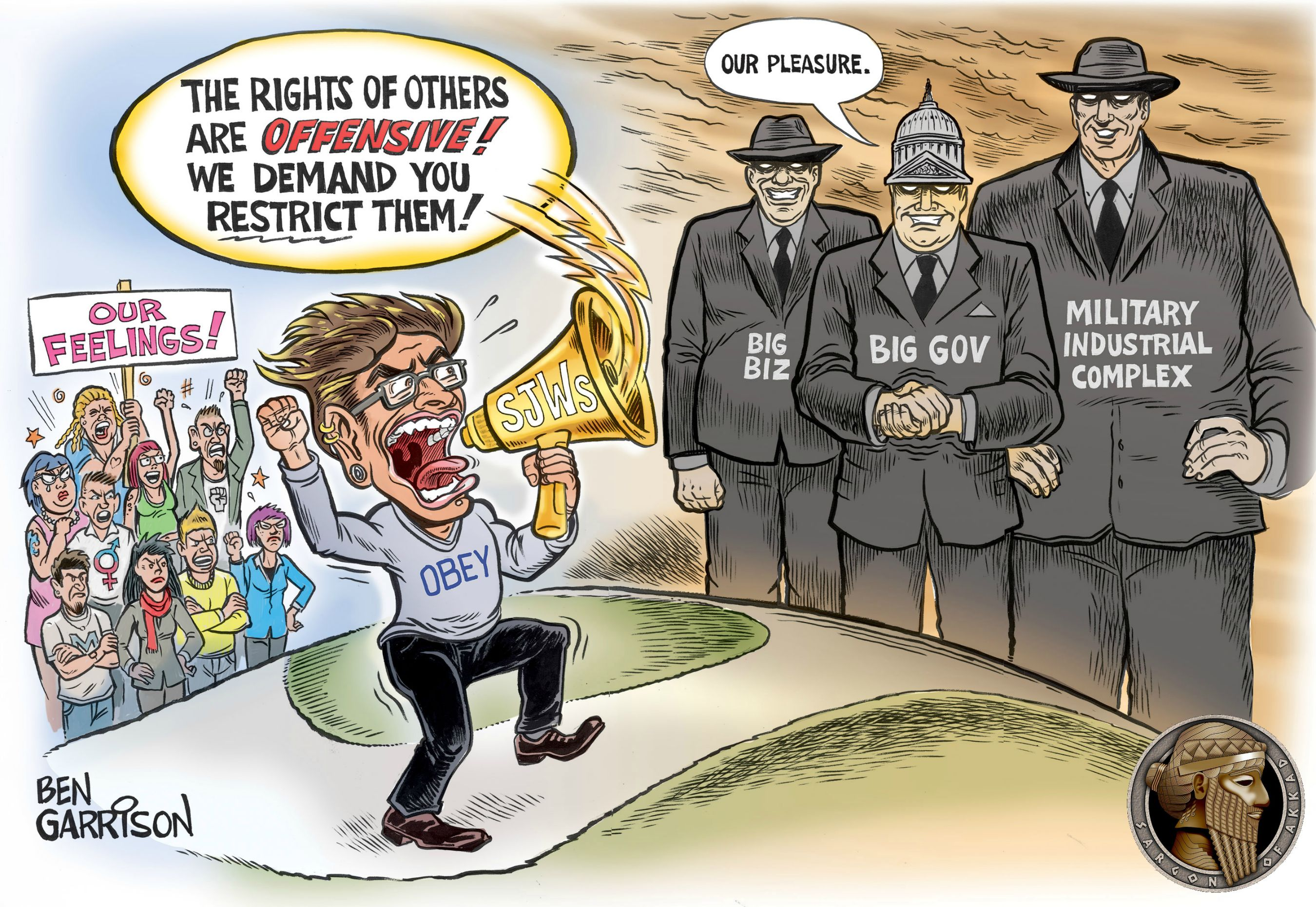 Useful Idiots by Ben Garrison | Social Justice Warrior ...