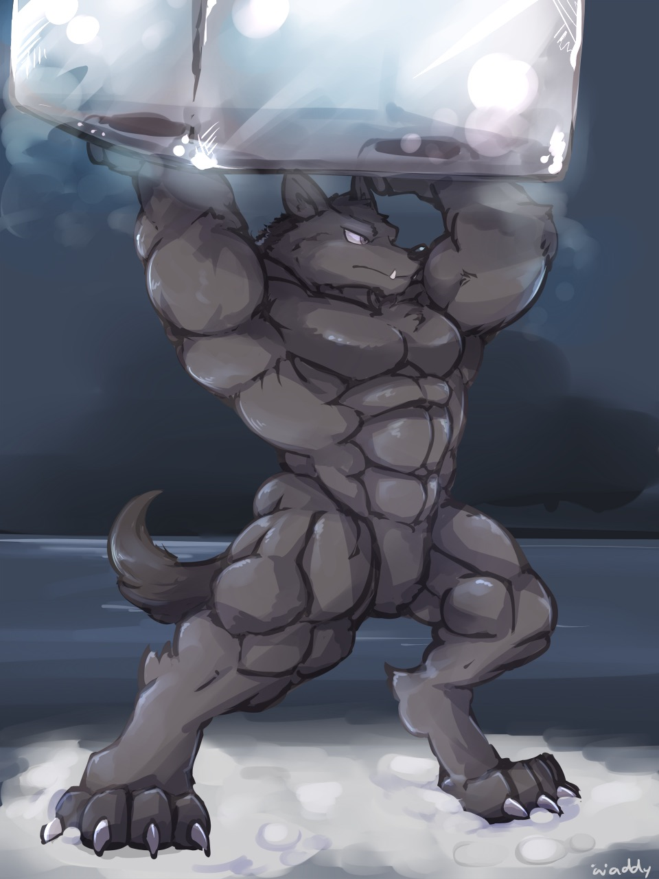 Muscular Ice Wolf First Time I Ve Seen This Undertale
