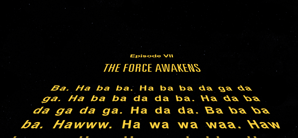 Star Wars The Force Awakens Intro Replaced With Dog Of