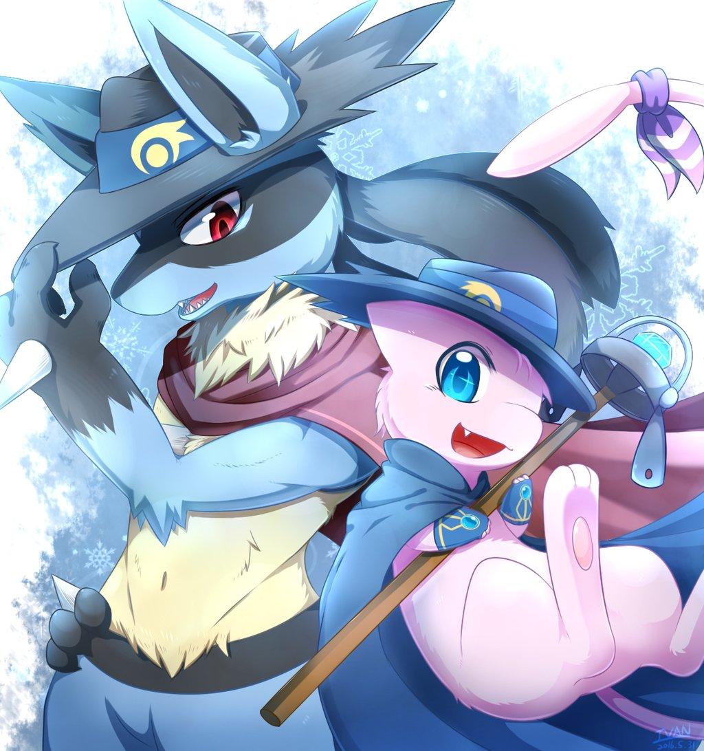 Lucario and Mew | Pokémon | Know Your Meme Mew And Lucario