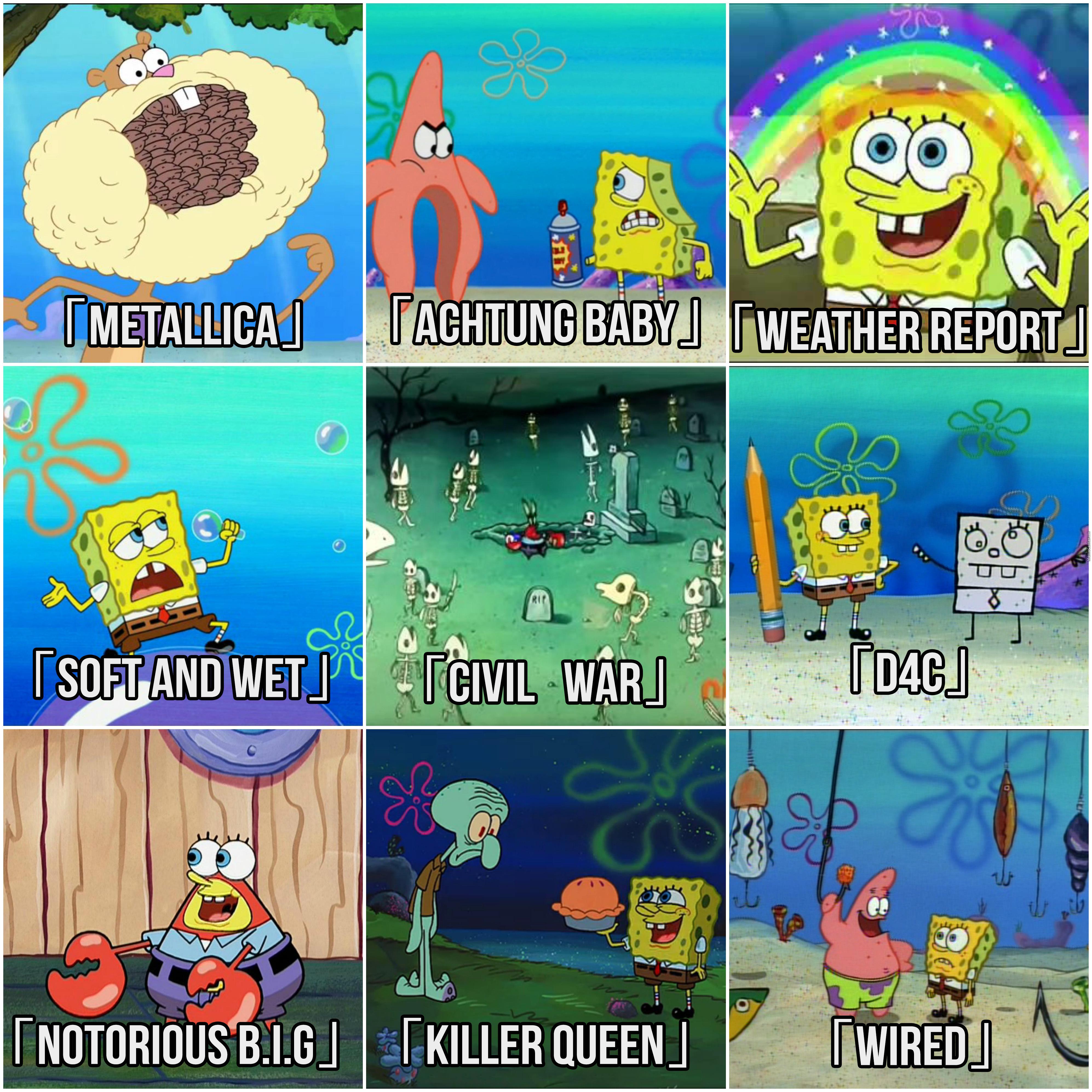 Stands As Represented By Spongebob Spongebob Comparison